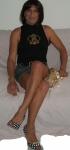 Mini jeans_maglietta nera smanicata scarpe a pois.jpg